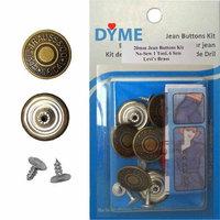 DIMEBUTTONS 6/PKG 20mm Fantasy Flower Silver Jean Tack Buttons