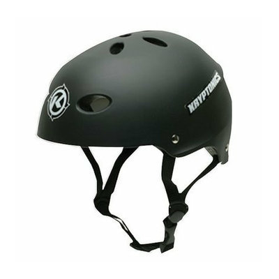 Kryptonics Black  Helmet - Large/XLarge
