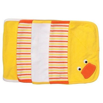 Carter's Set of 5 Washcloths - Yellow-One Size