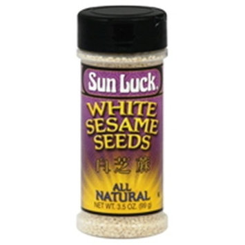 Sun Luck Sesame Seed, White, 3.35-Ounce (Pack of 6)