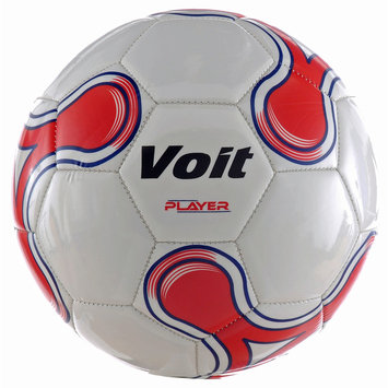 Voit Player Official Size 5 Soccer Ball White/Red Graphic