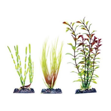 Penn Plax Green Artificial Plant Multi Pack Assorted 3 Count