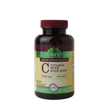 Finest Nutrition Vitamin C 1000mg with Rose Hips Timed Release Caplets