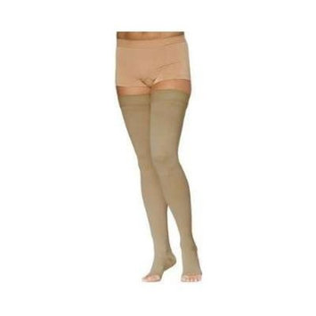 Sigvaris Access 972NSSO66 20-30 mmHg Unisex Open Toe Thigh Highs, Crispa, Small and Short