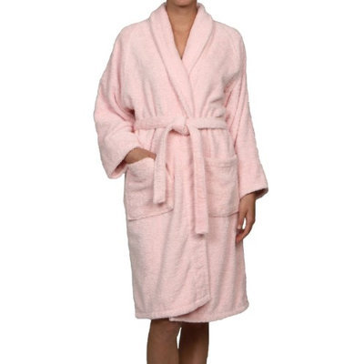Blue Nile Mills Unisex 100% Egyptian Cotton Bath Robe Extra-Large, Pink