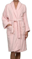 Blue Nile Mills Unisex 100% Egyptian Cotton Bath Robe Large, Pink