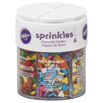 Wilton Sprinkles, Flowerful Medley, 2.54 oz (72 g)