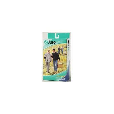 Juzo 2002ADFFSBSH53 V V Soft Closed Toe Knee High Short 30-40 mmHg with Silicone Border - Chocolate
