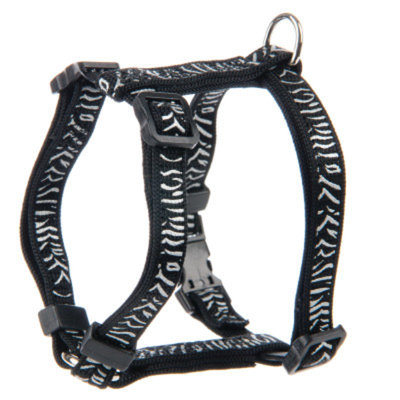 Whisker CityA Reflective Zebra Cat Harness