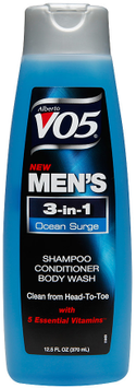 Alberto VO5® Mens 3-in-1 Shampoo, Conditioner & Body Wash, Ocean Surge