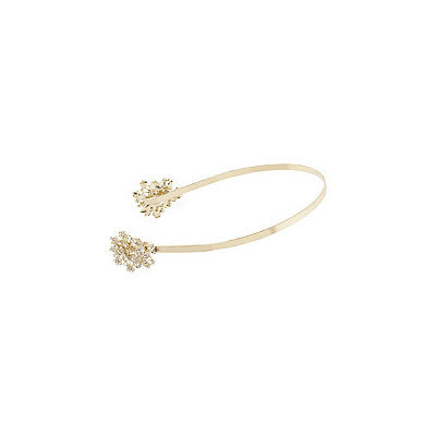 Kardashian Beauty Gold Floral Rhinestone Head Band