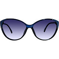 Outlook Eyewear Avril Teal Blue Cateye Sunglasses
