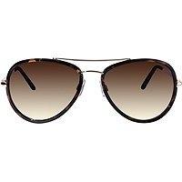 Outlook Eyewear Keiko Tortoise And Gold Aviator Sunglasses
