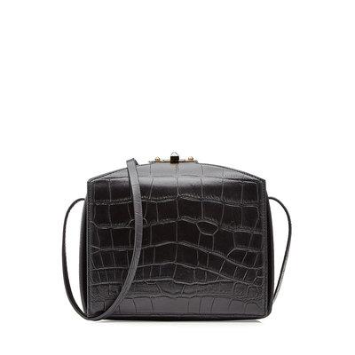 Alexander McQueen Embossed Leather Shoulder Bag - black