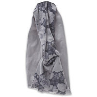 Elle Gray Floral Head Wrap
