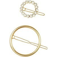 Elle Gold Circle Ring Barrette