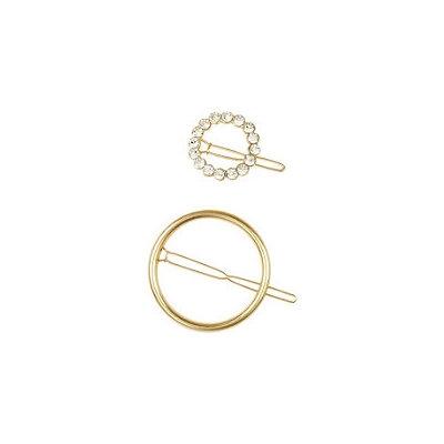 Elle Gold Circle Ring Barrette