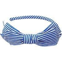 Riviera Nautical Feeder Stripe Bow Headband