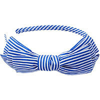 Riviera Nautical Feeder Stripe Bow Headband