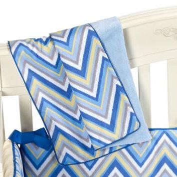 Caden LaneA Ikat Diamond Blue Piped Blanket