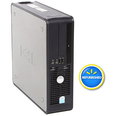 Optiplex Dell Pre-Owned Refurbished 745 SFF Desktop PC with Intel Dual-Core Processor, 2GB Memory, 160GB Hard Drive and Windows 7 32-Bit Edition (Monitor Not Included)