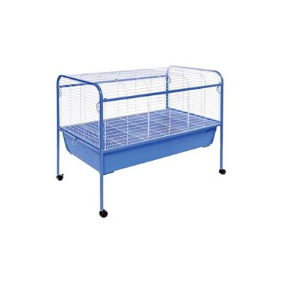 Prevue Hendryx Jumbo Small Animal Cage on Stand with Casters - 47x22x37