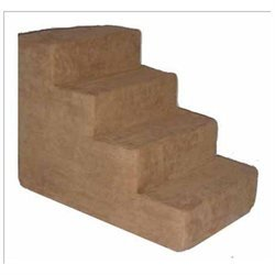 Best Pet Supplies ST2055S Pet Stairs in Light Brown with 5 Steps