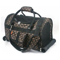 Prefer Pets 599PB Deluxe Carrier For Small Pets - Paw Print