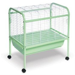 Prevue Hendryx Jumbo Small Animal Cage on Stand with Casters - 29x19x31