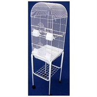 YML Tall Round 4 Perch Bird Cage with Stand
