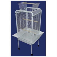 YML Play Top Parrot Bird Cage in White