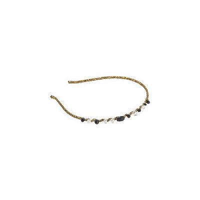 Karina Gold Thread and Beaded Head Band