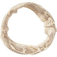 Elle Metallic Print Tan Head Wrap