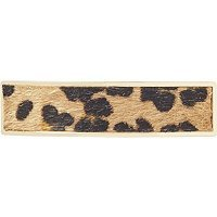 Elle Faux Fur Animal Print Metal Barrette