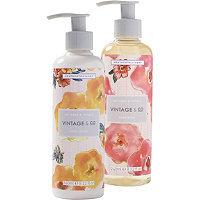 Heathcote & Ivory Vintage & Co Patterns and Petals Hand Wash & Lotion Set