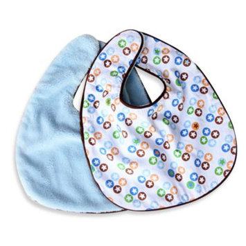 Caden Lane 3STADBIB Boutique Star Dot Bib Set - 2 Pieces Set