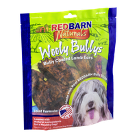 Red Barn Naturals Wooly Bullys Bully Coated Lamb Ears
