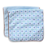 Caden Lane Modern Vintage Octagon 2-Pack Burp Cloths in Blue