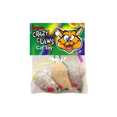 Sergeant's Sergeants Pet Care Products Crazy Claws Mice Catnip Toy 49966