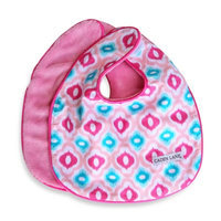 Caden LaneA Ikat Bib 2-Pack in Pink Solid & Pink Mod Print