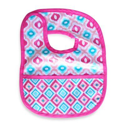 Caden LaneA Ikat Bib in Pink Mod Print