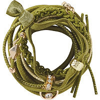 Elle Multi Green Elastics