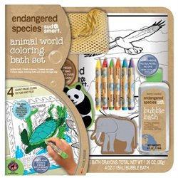 Health Science Labs ES1857C Large Endangered Species Animal Coloring Bath Set