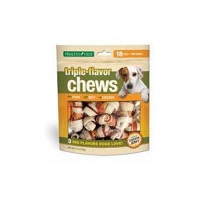 Salix Llc Salix 073018 Triple Chew Mini Bone - 18 Pack