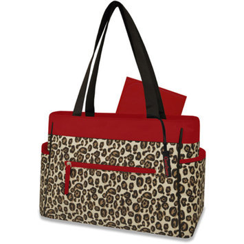 Gerber Leopard Diaper Bag, Brown/Red