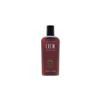 American Crew Travel Size 3-in-1 Tea Tree Shampoo, Conditioner and Body Wash