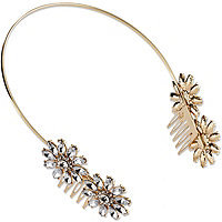 Elle Gold Headband with Crystals