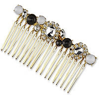 Elle Gold with Colored Stones Side Comb
