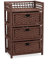 Household Essentials Storage Chest, 3 Drawer Paper Rope