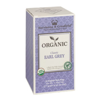 Harrisons & Crosfield Organic Classic Earl Grey Tea 20 English Style Tea Bags